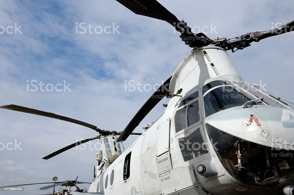 CH-47 Chinook Helicopter royalty-free stock photo