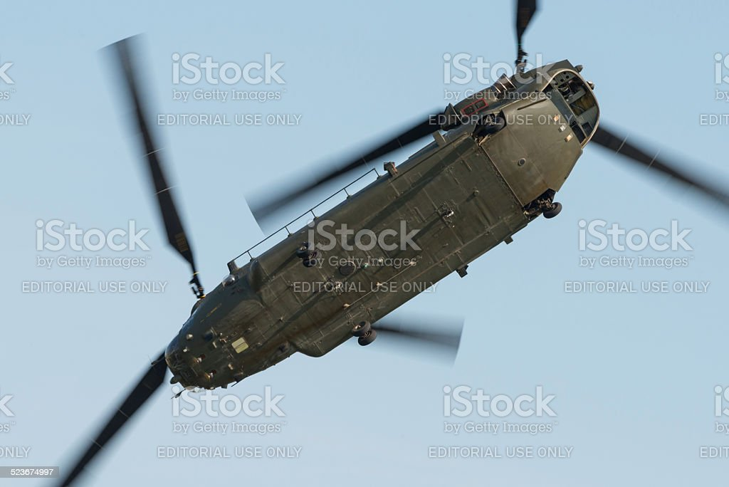 RAF Chinook helicopter stock photo