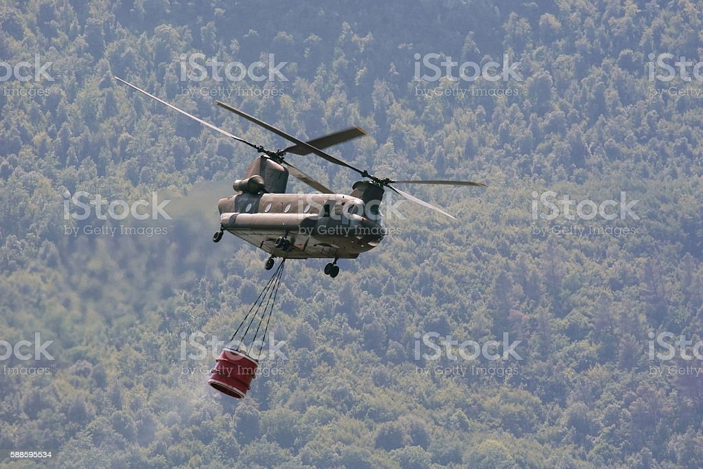 CH47 chinook helicopter stock photo