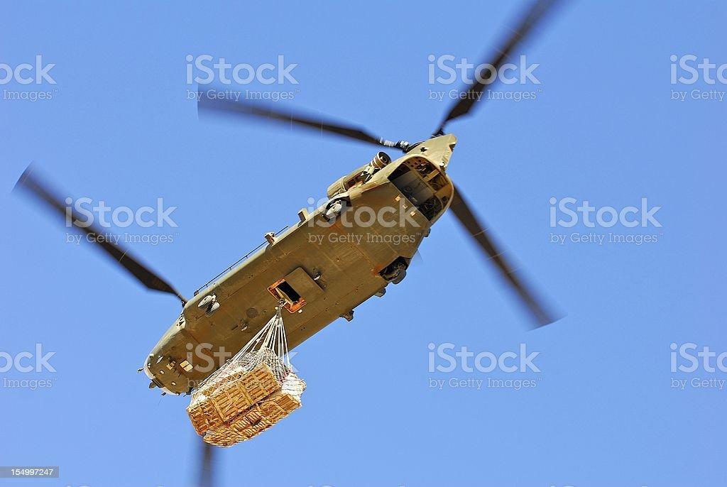 Chinook on re-supply flight stock photo