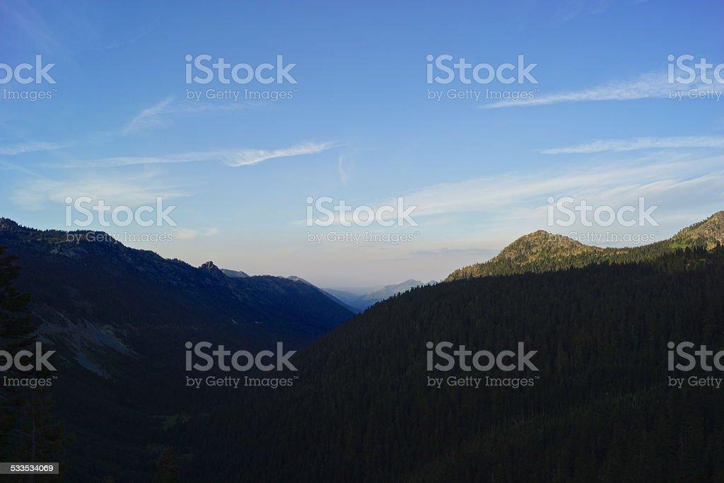 Chinook Pass Canyon stock photo