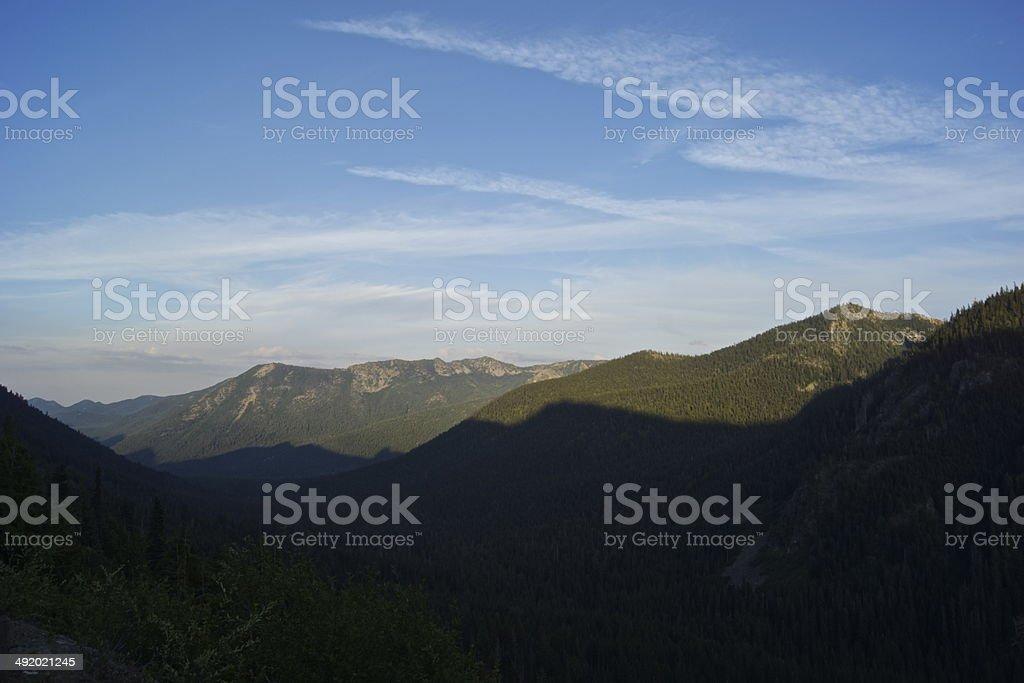 Chinook Pass Sunset stock photo