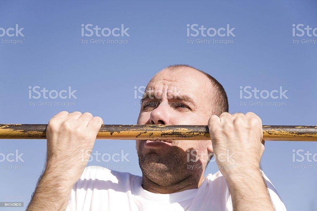 chin-up royalty-free stock photo