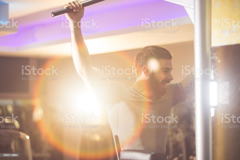 Chin-Ups stock photo