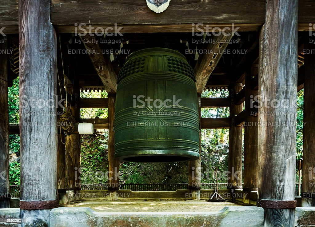 Chion-in bell in Kyoto Japan stock photo