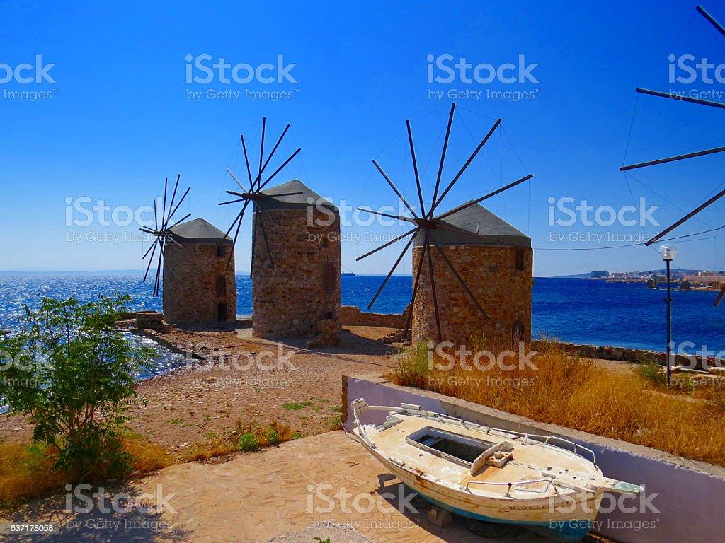 Chios Greece stock photo