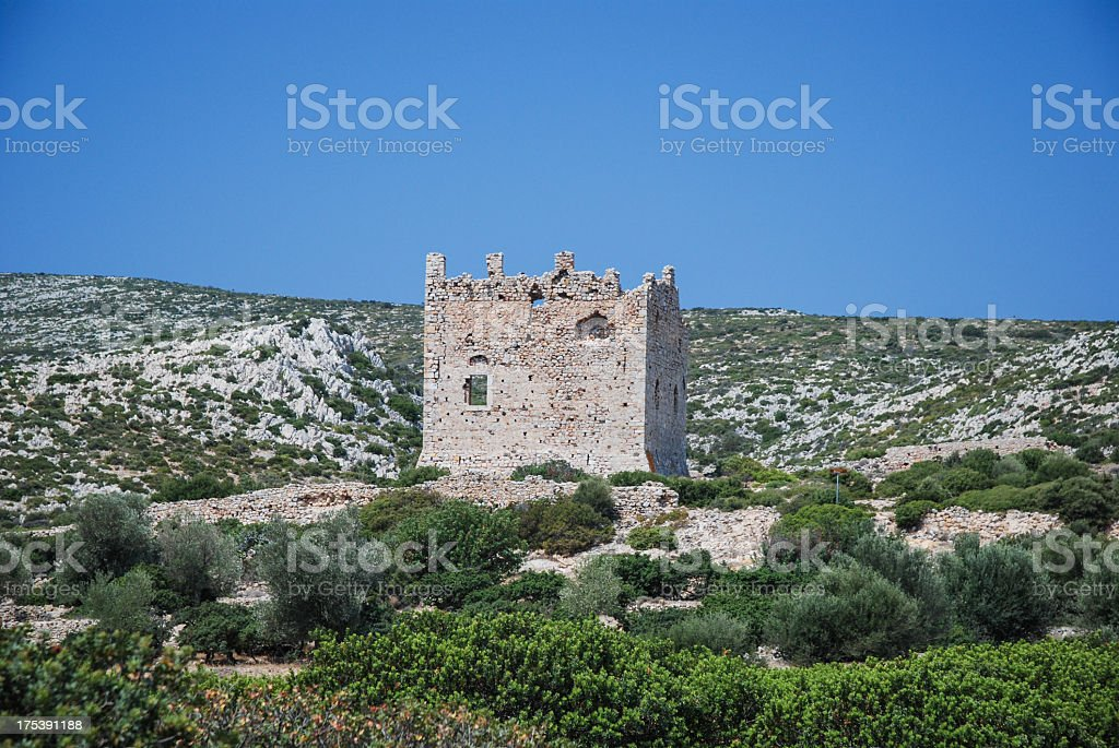 Chios tower stock photo