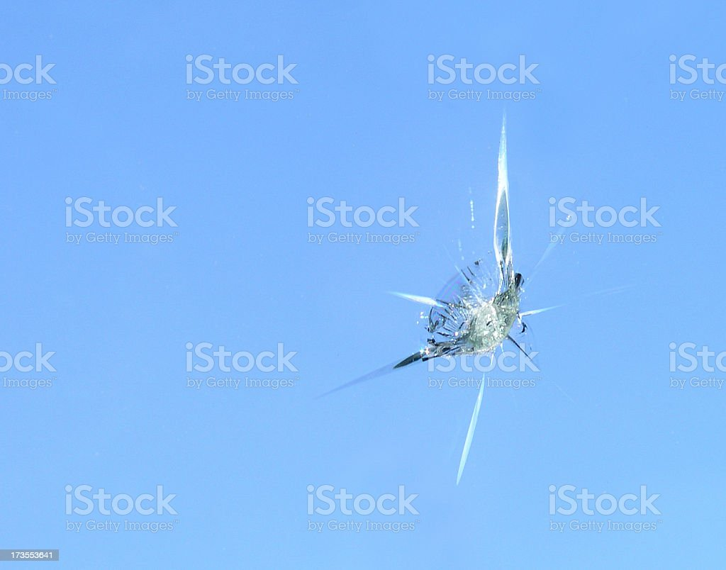 Chip in the Windshield stock photo