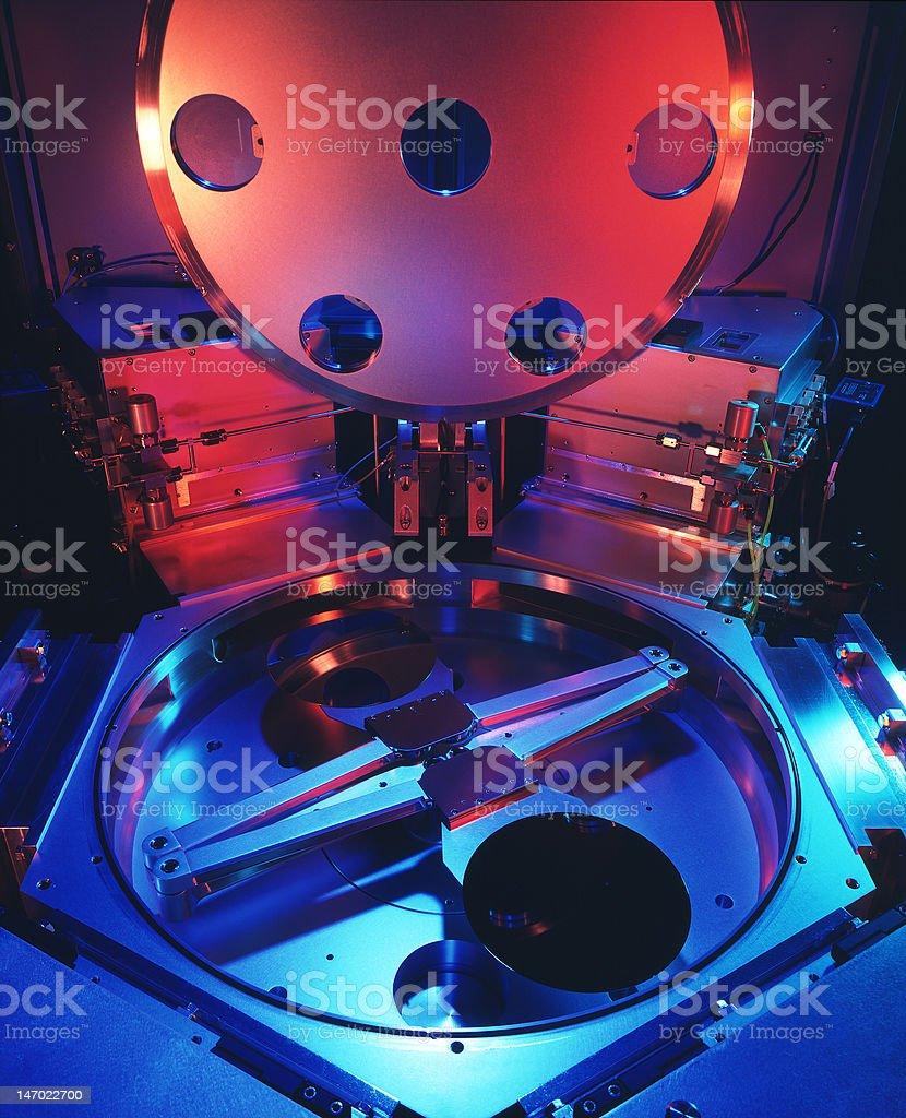 Chip making machine stock photo