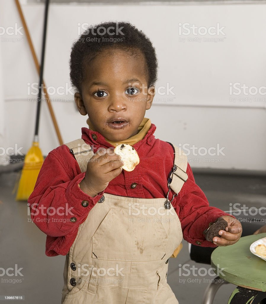 Chip or cookie royalty-free stock photo
