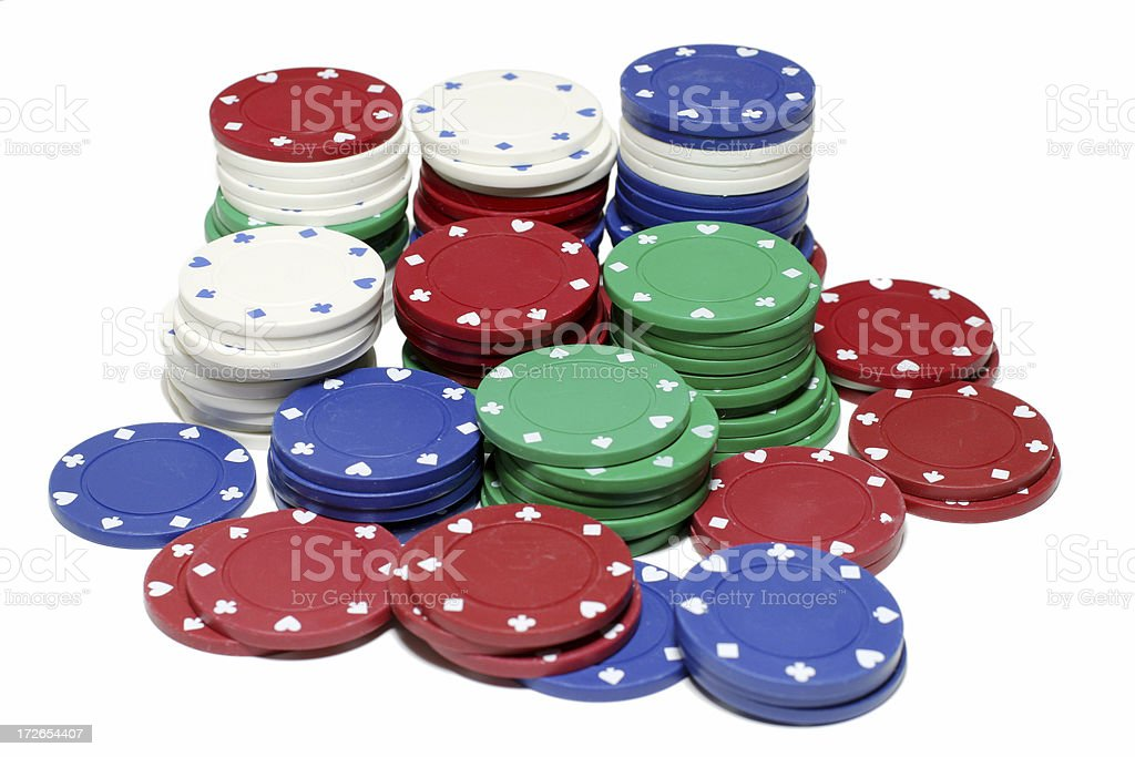 Chip stacks royalty-free stock photo