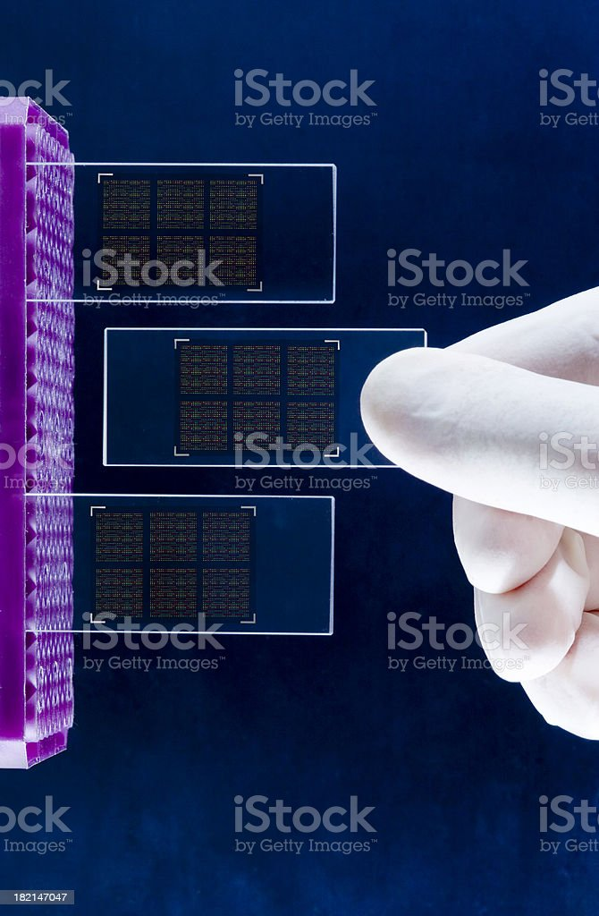 DNA Chip technologies stock photo