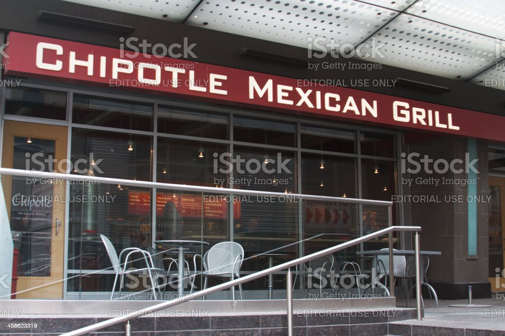 Chipotle Mexican Grill Store Front stock photo
