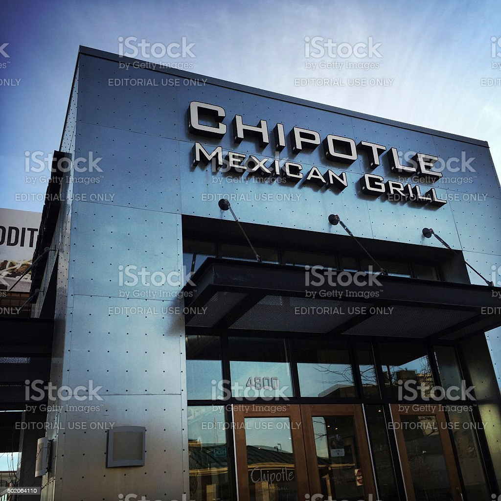 Chipotle Mexican Restaurant stock photo