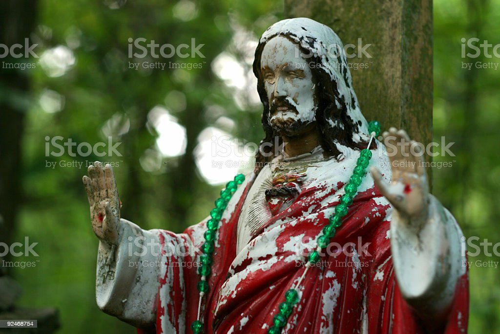 Chipped Paint Jesus royalty-free stock photo