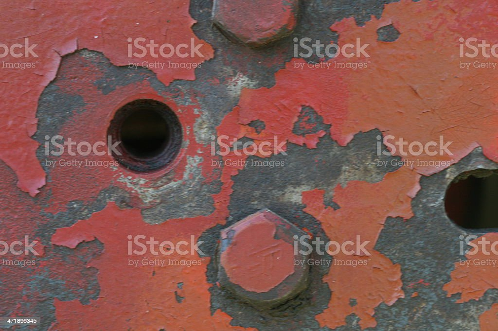 Chipped red paint royalty-free stock photo
