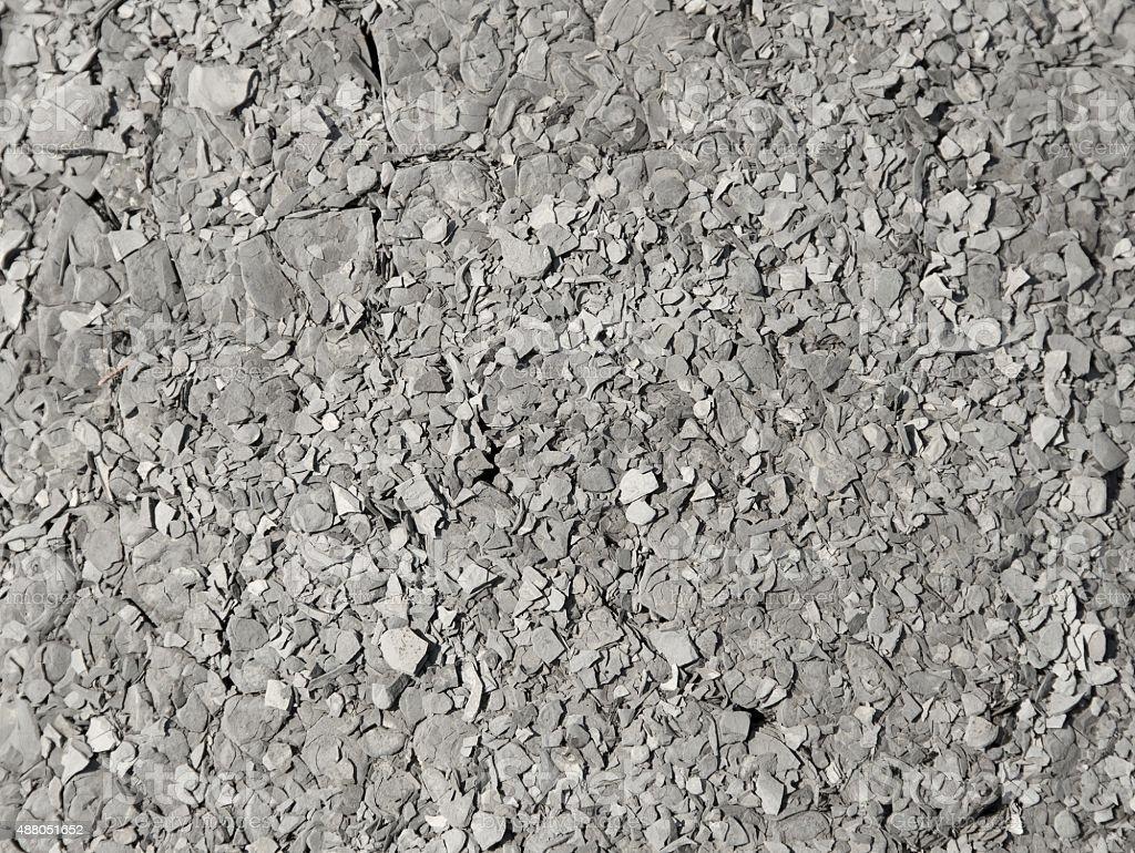 chipped rocks stock photo