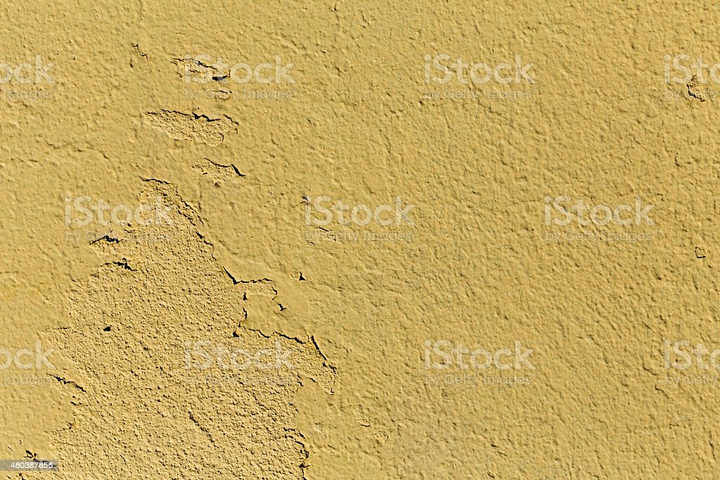 Chipped yellow background with textures royalty-free stock photo