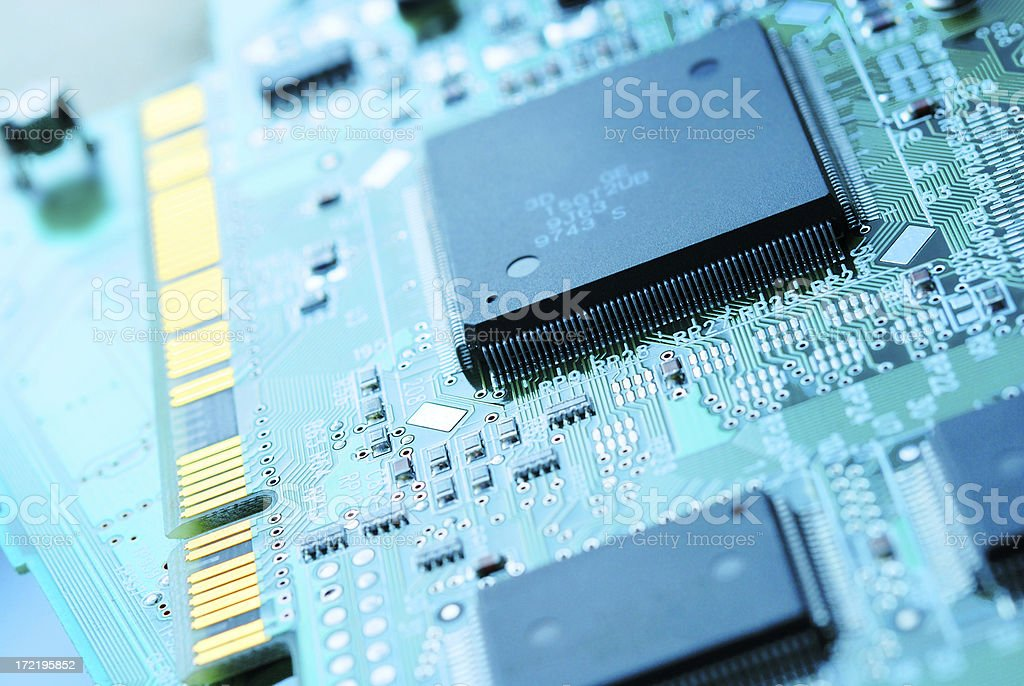 Chips and connector royalty-free stock photo