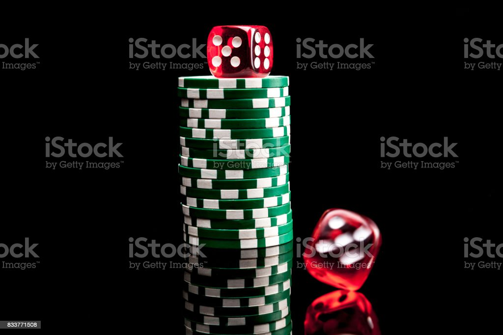 Chips and Dices stock photo