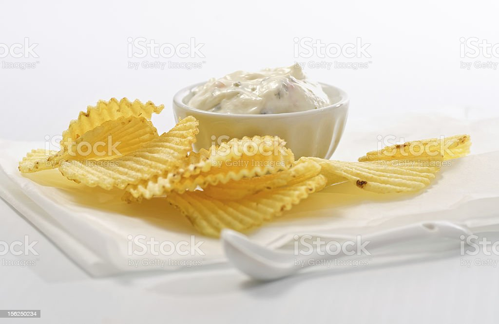 Chips and dip. royalty-free stock photo