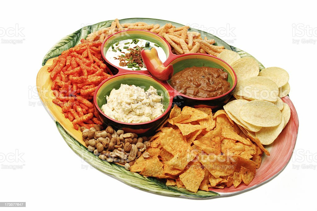 chips and dips stock photo