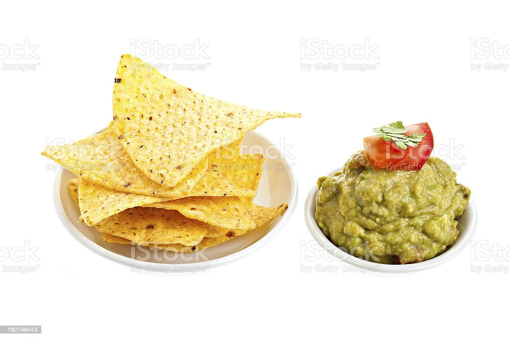 Chips And Guacamole royalty-free stock photo