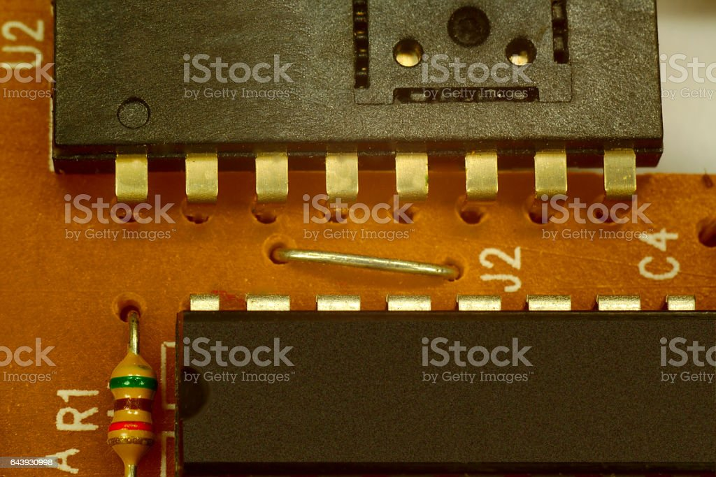 chips and resistor stock photo