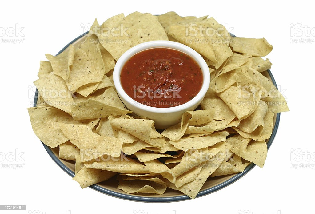 chips and salsa royalty-free stock photo