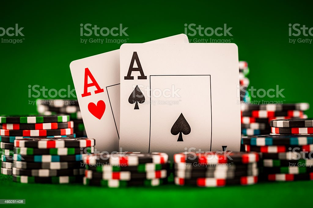chips and two aces stock photo