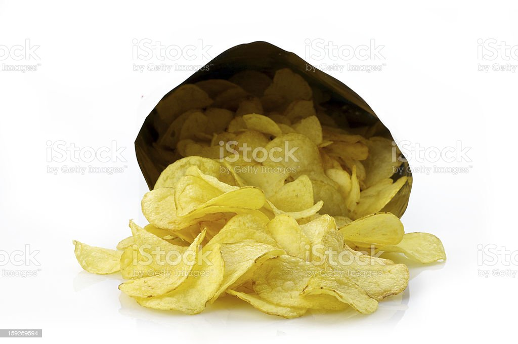 Chips bag royalty-free stock photo