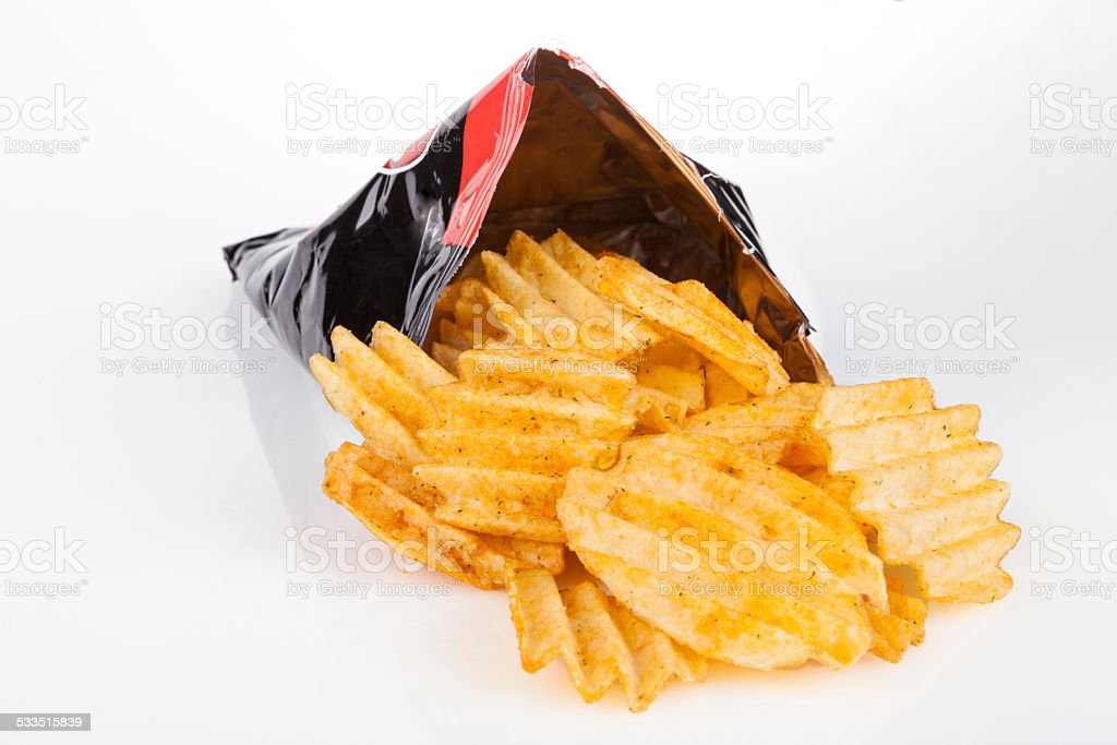 Chips Bag stock photo