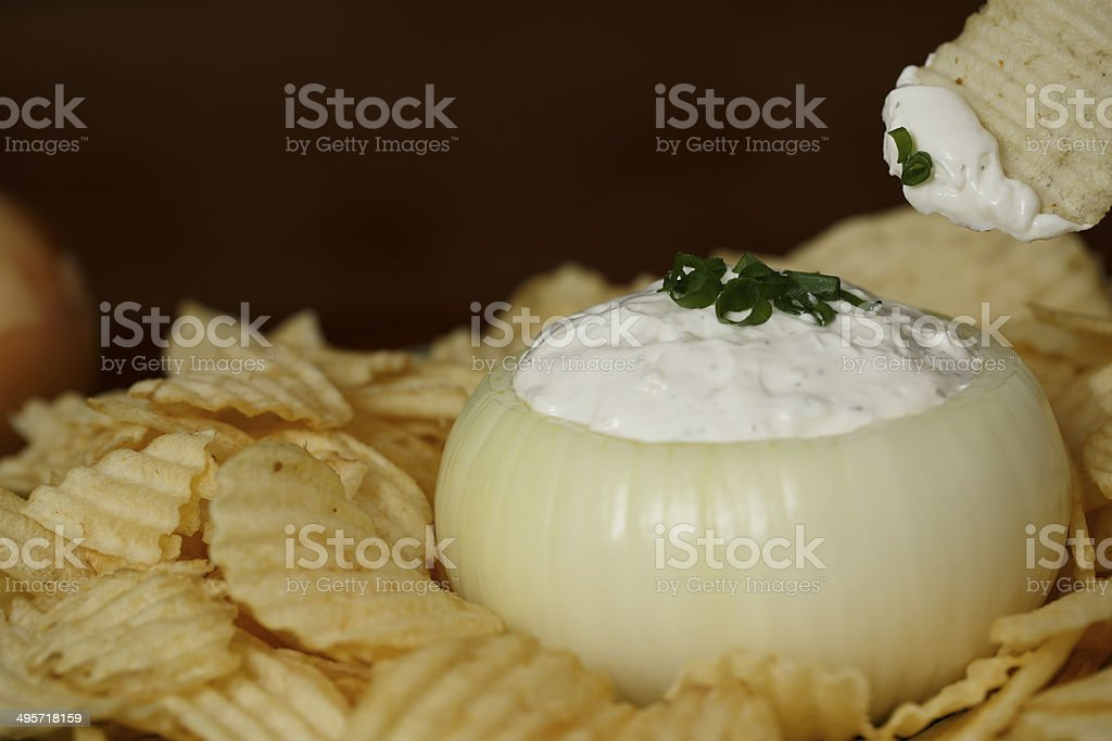 Chips & Dip stock photo