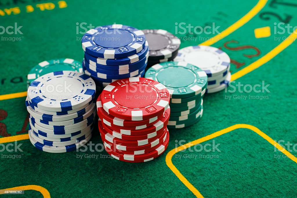 chips for poker stock photo