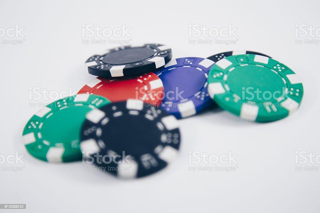 Chips for poker stock photo