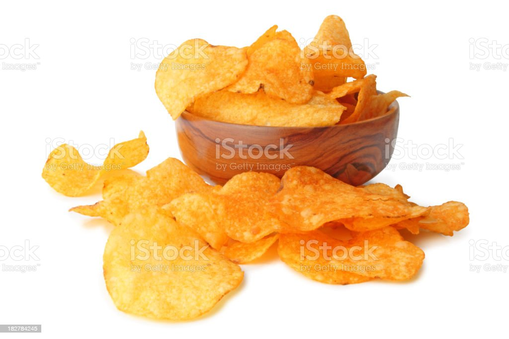 Chips isolated royalty-free stock photo