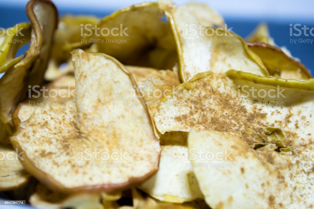 Chips of apple stock photo