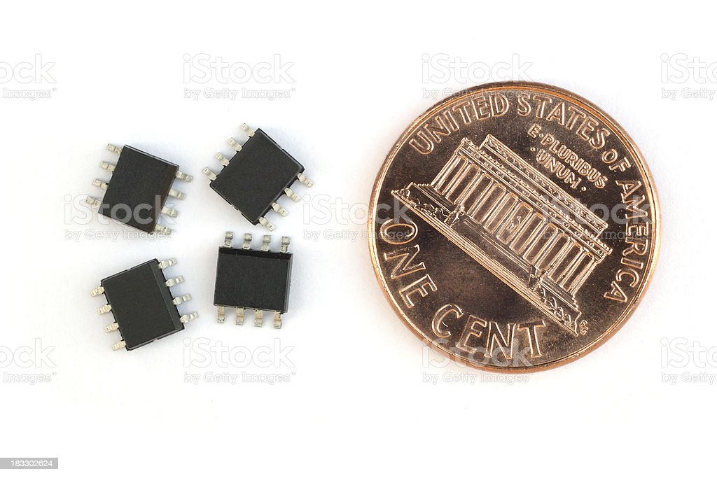 SMD chips stock photo