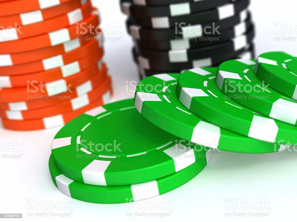 3D chips royalty-free stock photo