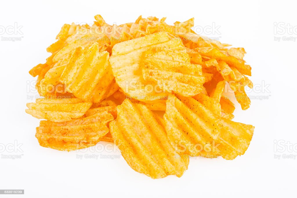 Chips Pile stock photo