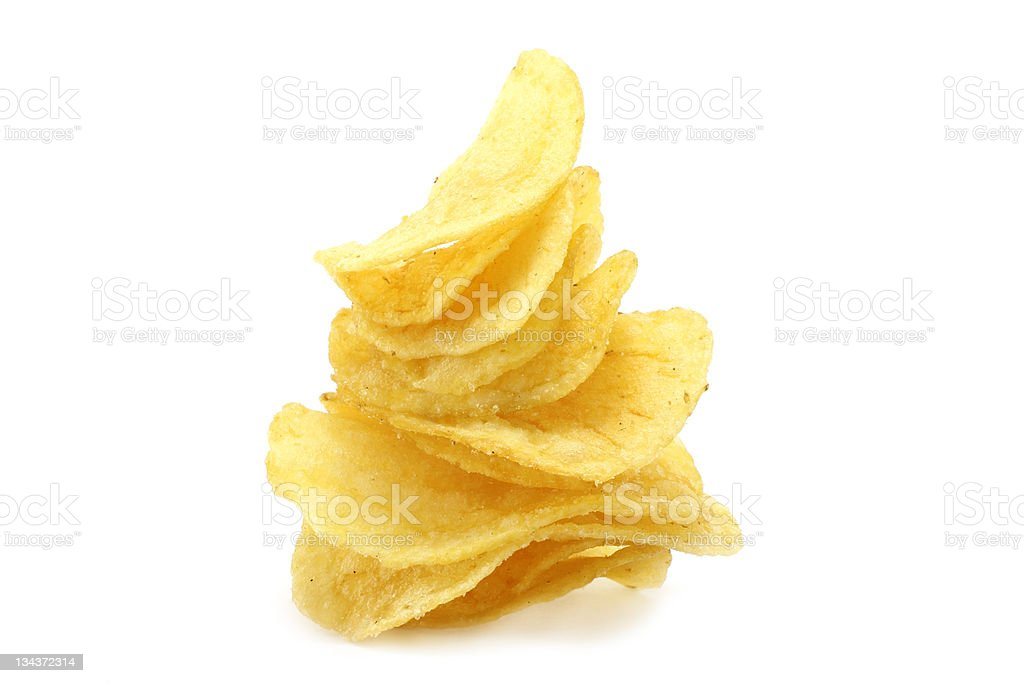 Chips pyramid royalty-free stock photo