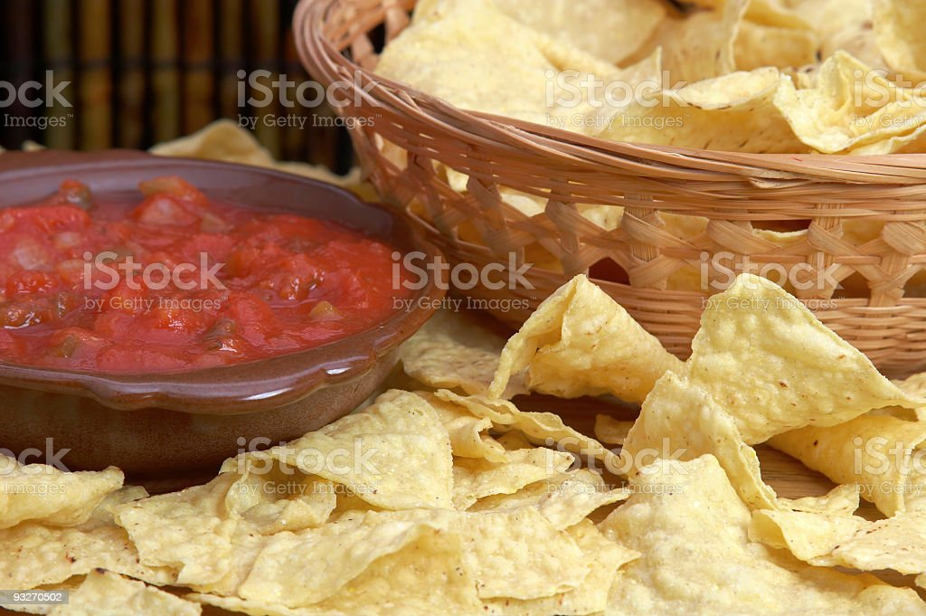 Chips & Salsa royalty-free stock photo