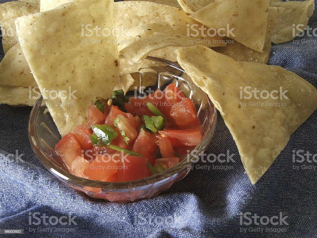 Chips with Salsa stock photo