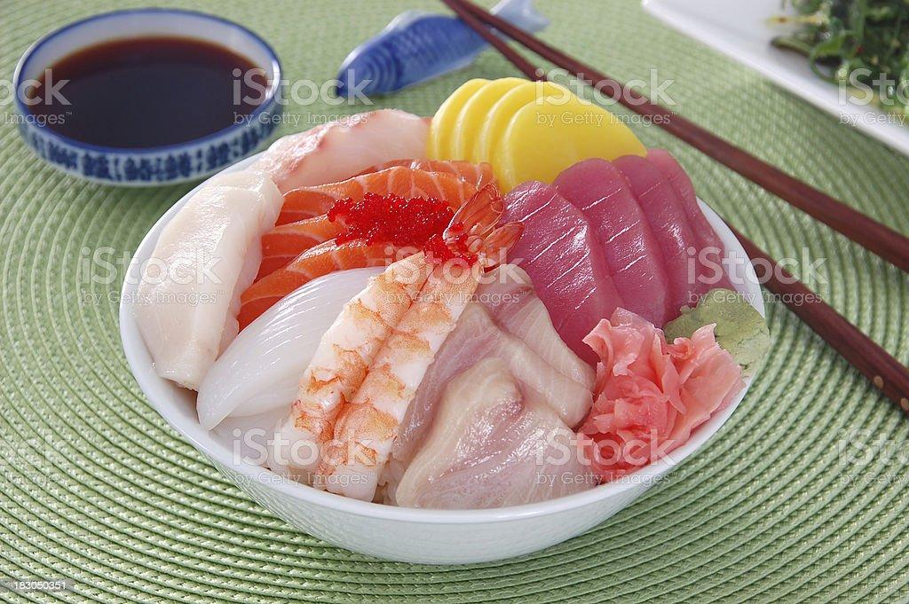 Chirashi Sushi royalty-free stock photo