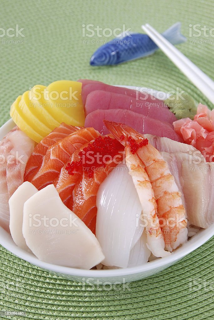 Chirashi Sushi royalty-free stock photo