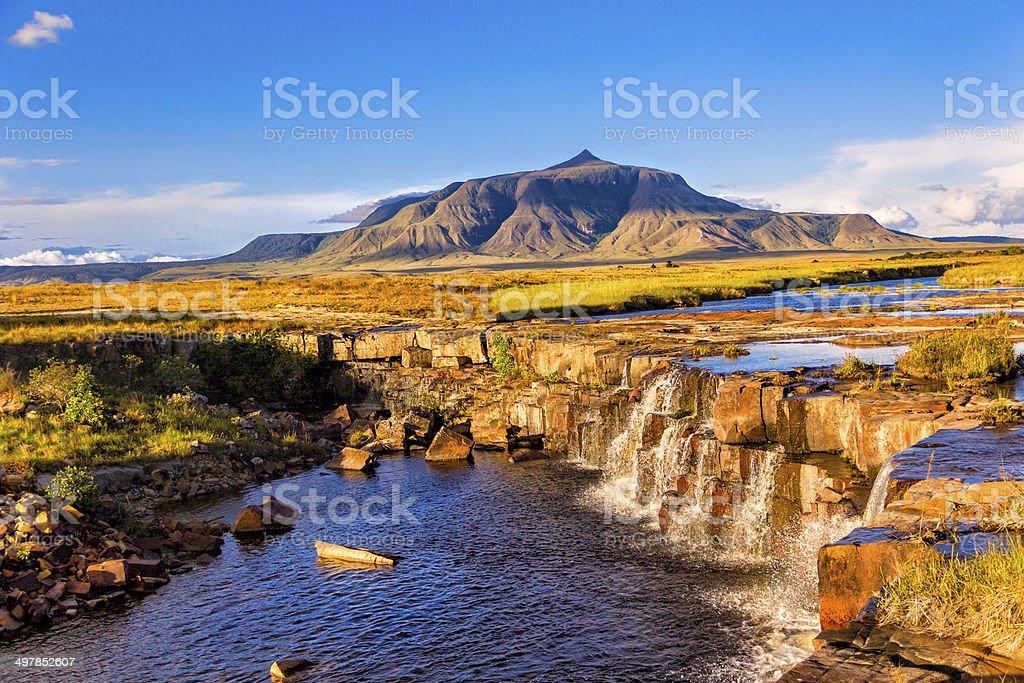 Chirimata Waterfalls at Gran Sabana, Venezuela stock photo