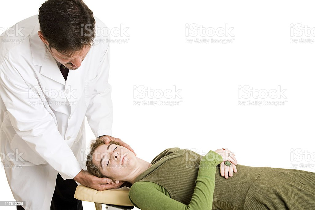 Chiropractic Adjustment Isolated royalty-free stock photo