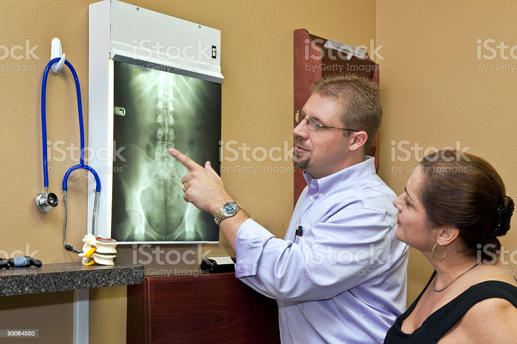 Chiropractic Care royalty-free stock photo