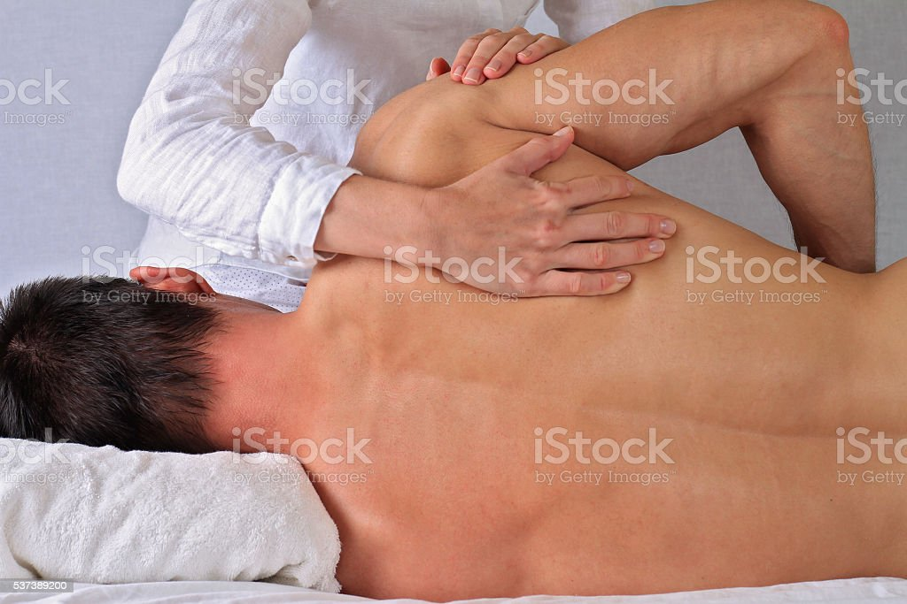 Chiropractic, osteopathy, manual therapy. Alternative medicine stock photo