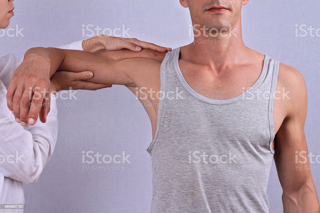 Chiropractic, osteopathy, manual therapy. T stock photo